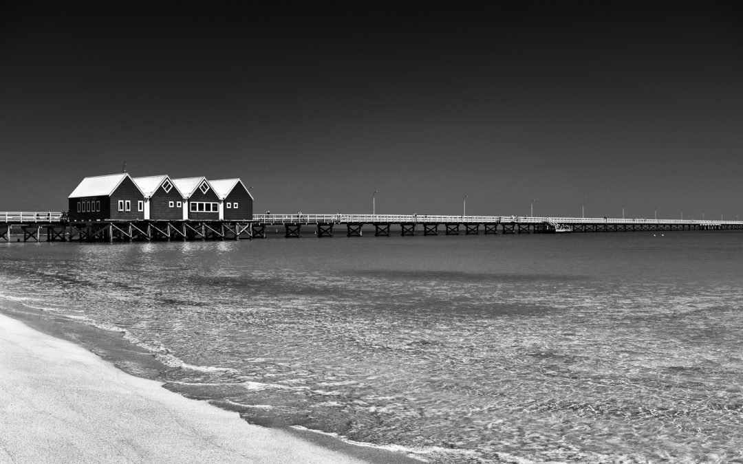 Busselton-Jetty_Busselton_South-West_WA_Black and White