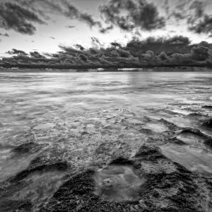 Closing-in_Storm_Burns-Beach_Perth_WA_Black and White