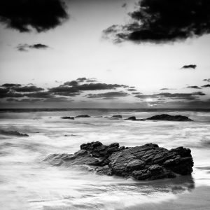 Contemplation_Honeycombs-Beach_Yallingup_South-West_WA_Black and White