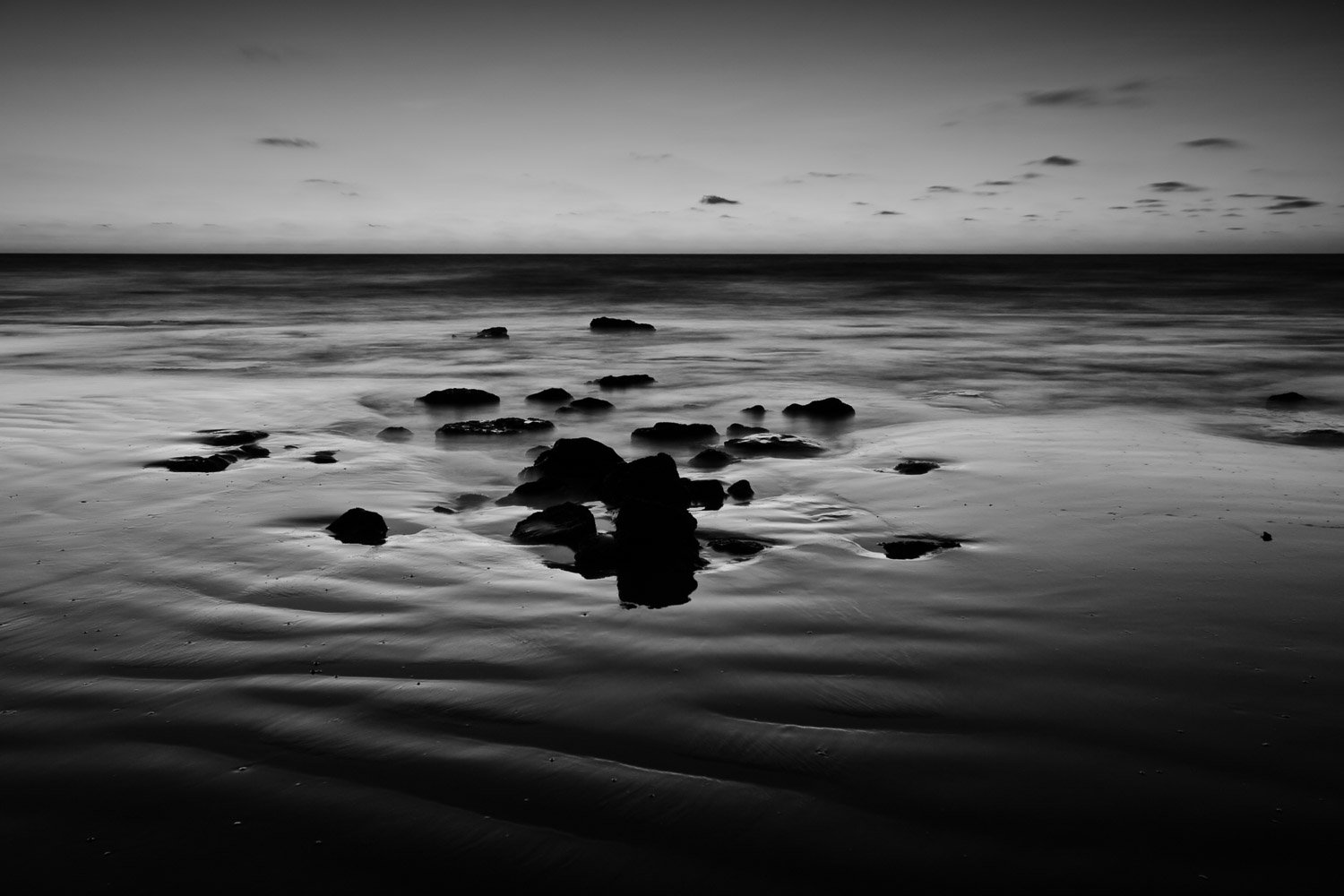Dark-Exposure_Cable-Beach_Broome_Kimberleys_North-West_WA_Black and White