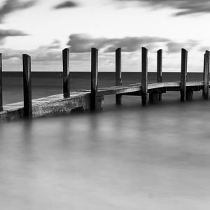 Early-Start_Boat-Ramp_Quindalup_Dunsborough_South-West_WA_Black and White