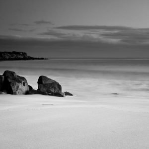 Fishing-Time_Castle-Rock_Beach_Dunsborough_South-West_WA_Black and White