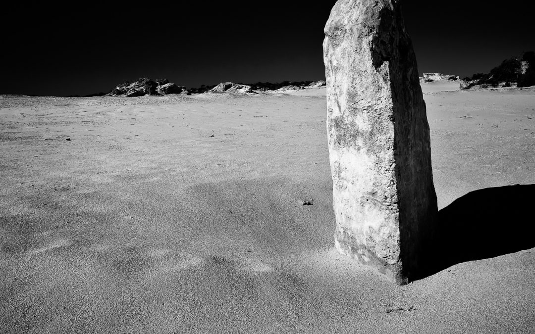 Lone-Pillar_Pinnacles_Cervantes_Perth_Central-West_WA_Black and White