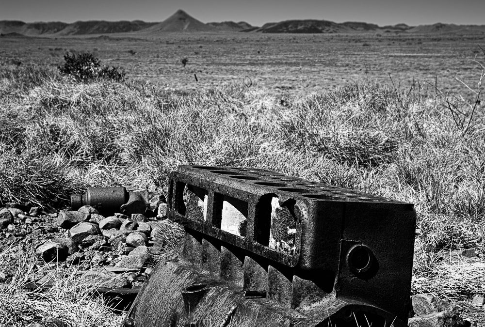 Lonely-Block_Cooya-Pooya_Roebourne_Pilbara_North-West_WA_Black and White