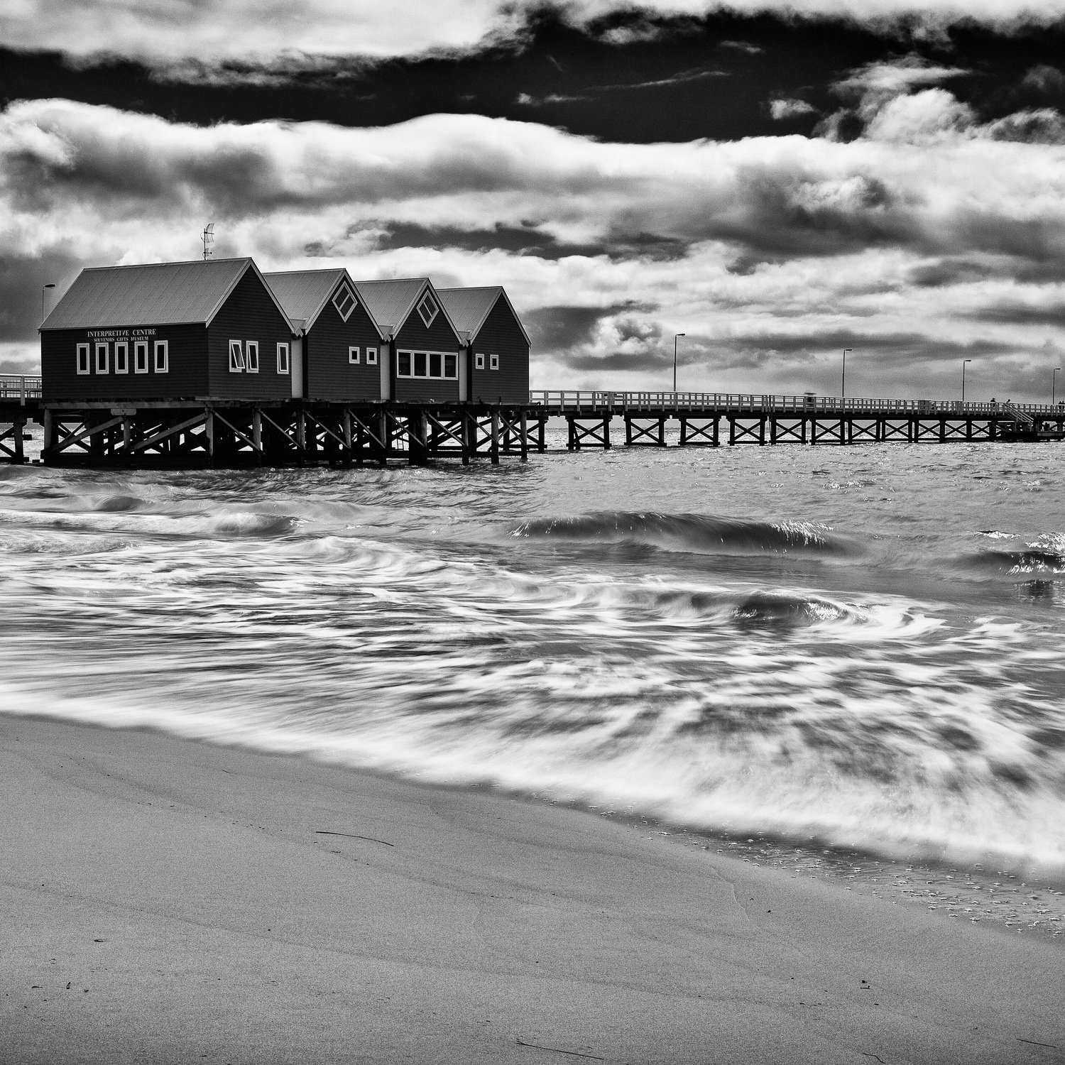 Motion_Busselton-Jetty_Busselton_South-West_WA_Black and White
