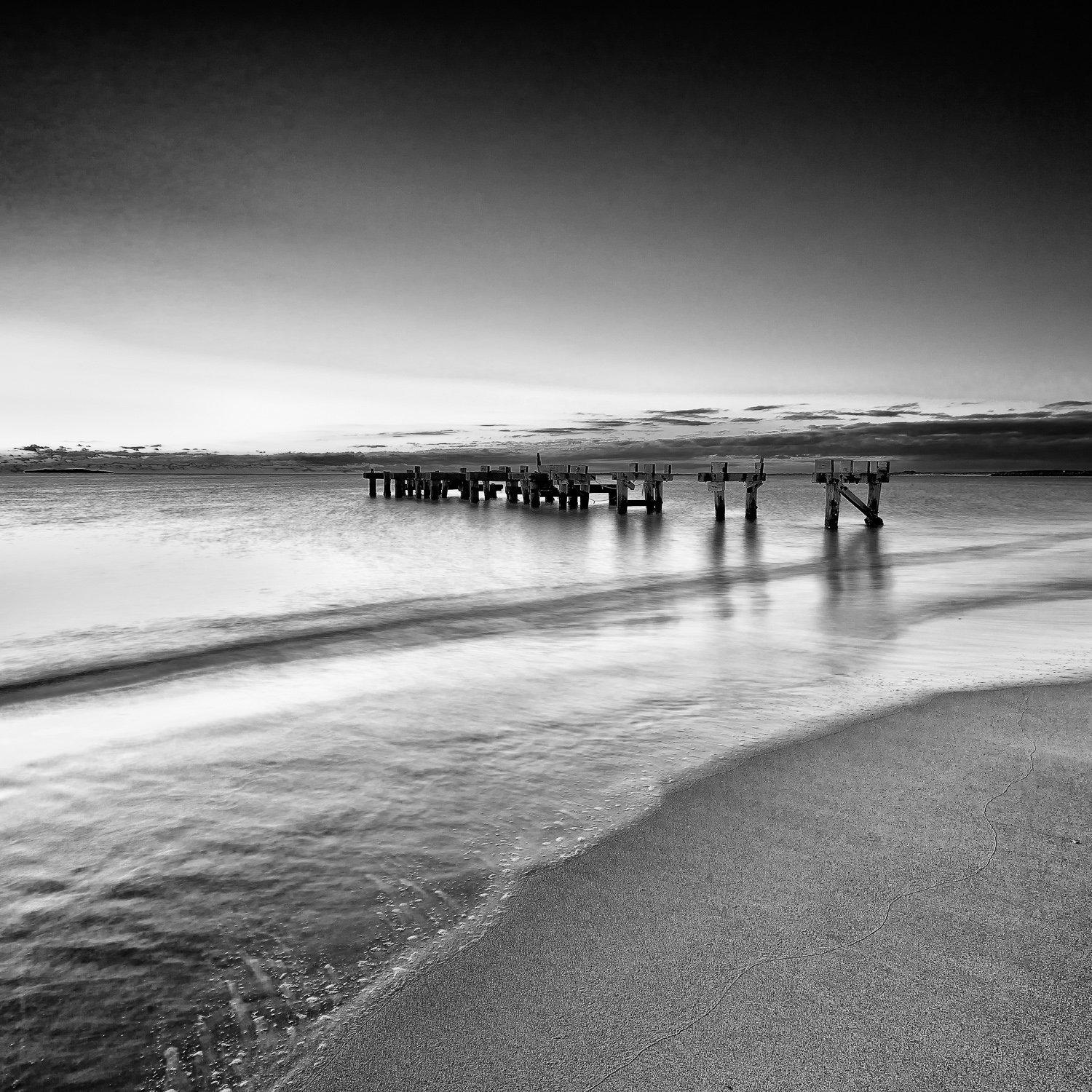 Old-Jetty_Jurien-Bay_Central-West_WA_Black and White