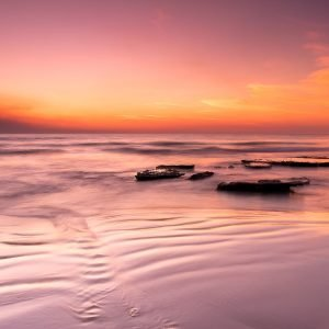 Outgoing-Ripples_Sunset_Cable-Beach_Broome_Kimberleys_North-West_WA_Colour