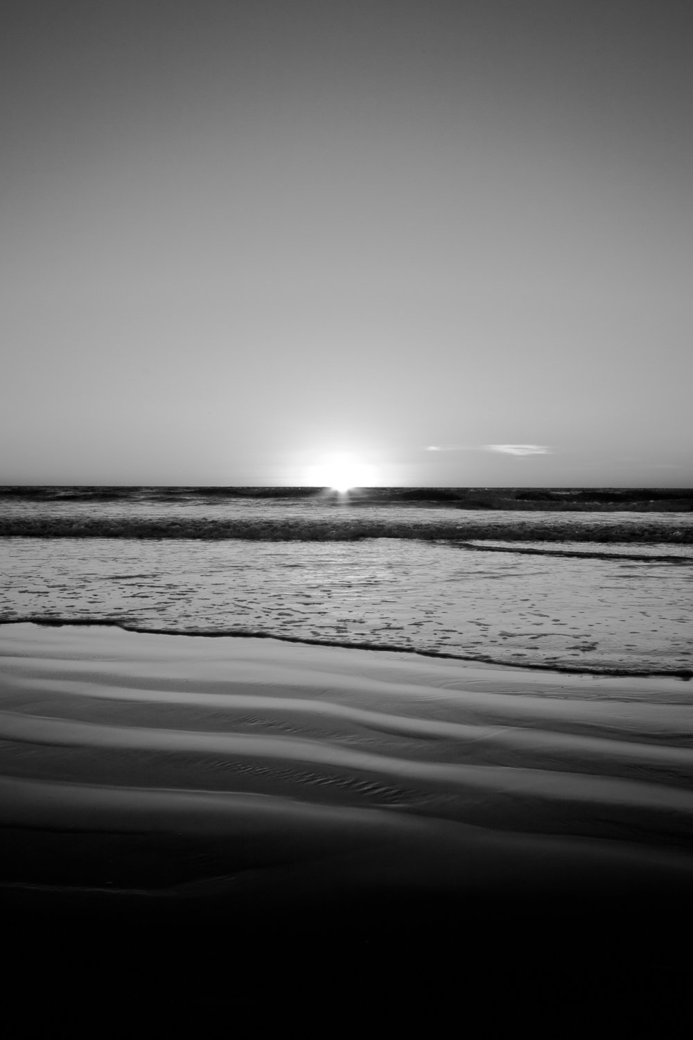 Peaceful-Ripples_Cable-Beach_Broome_Kimberleys_North-West_WA_Black and White