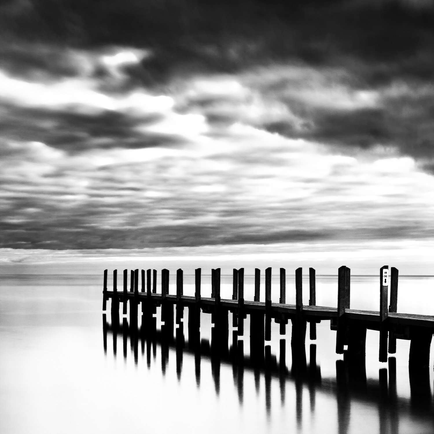 Ponder_Quindalup-Boat-Ramp_Dunsborough_South-West_WA_Black and White