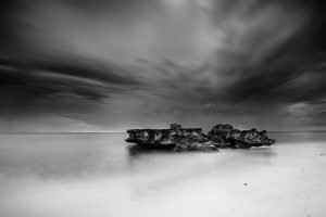 Pre-Soaking_North-Trigg-Beach_Trigg_Perth_WA_Black and White