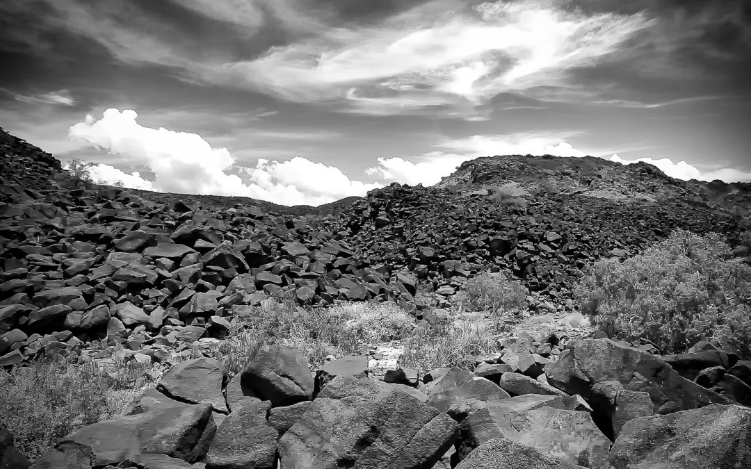 Rock-Piles_Burrup-Peninsula_Dampier_Pilbara_WA_Black and White