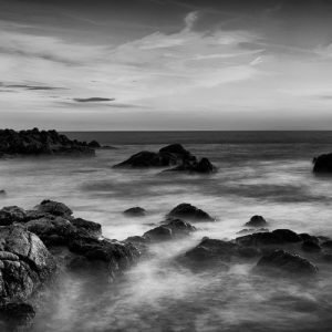 Rocky-View_Canal-Rocks_Smiths-Beach_Yallingup_South-West_WA_Black and White