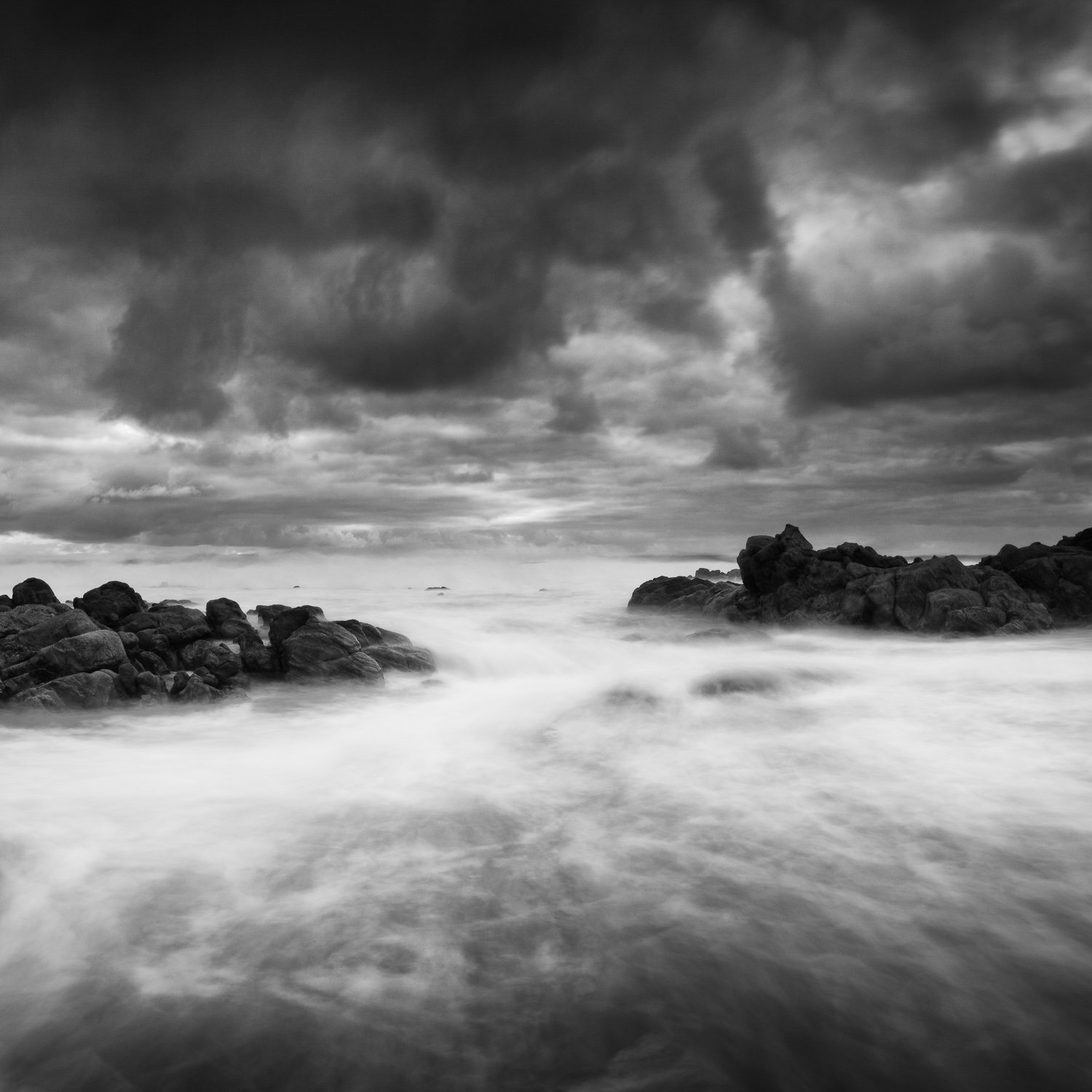 Storm-Flow_Cape-Naturaliste_South-West_WA_Black and White