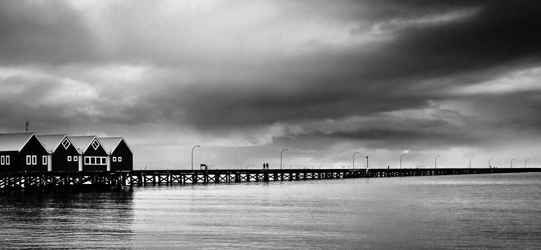 Stormy-Day_Busselton-Jetty_Busselton_South-West_WA_Black and White
