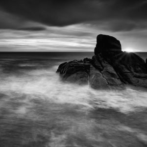 Sun-Burst_Canal-Rocks_Smiths-Beach_Yallingup_South-West_WA_Black and White