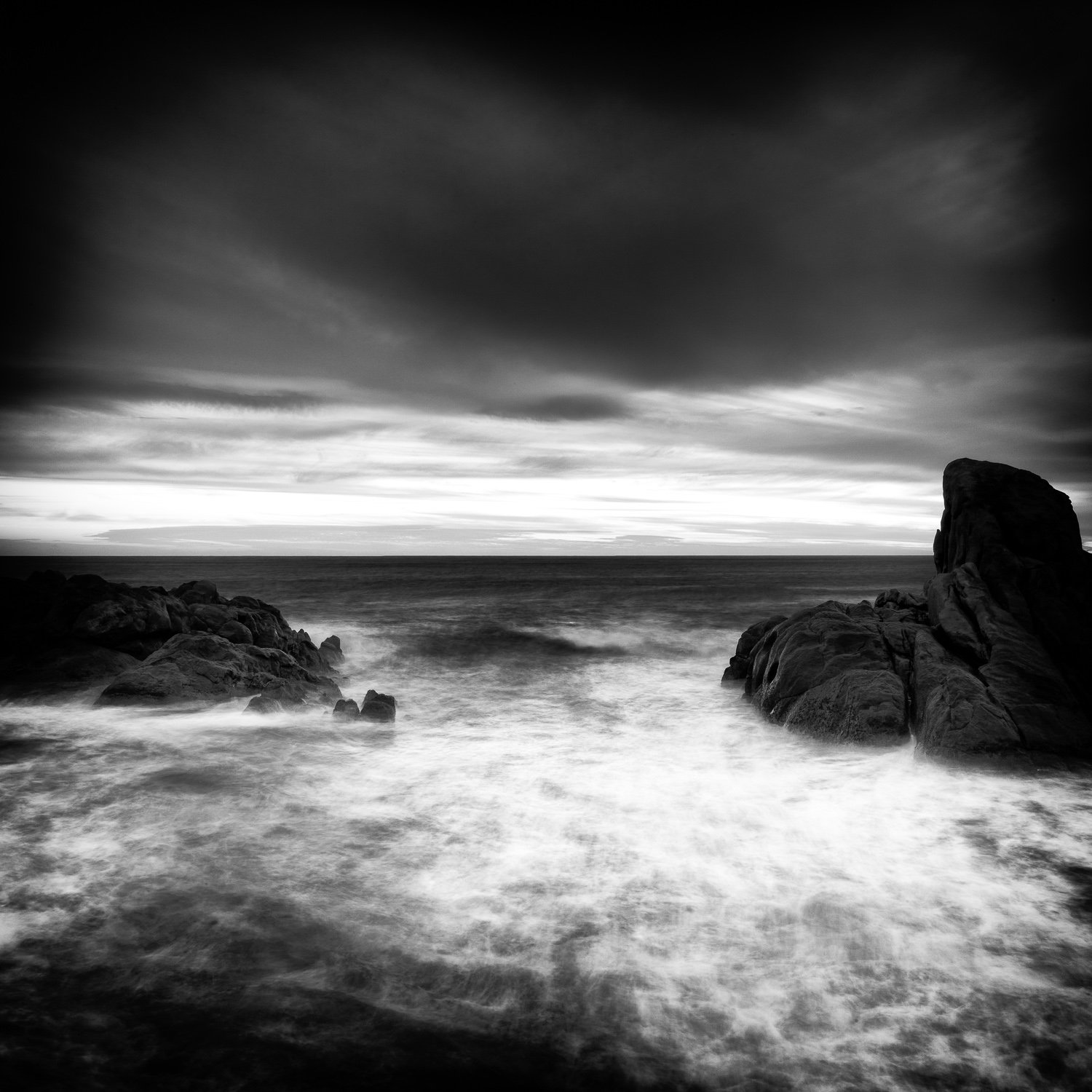 Twilight-Fade_Canal-Rocks_Smiths-Beach_Yallingup_South-West_WA_Black and White