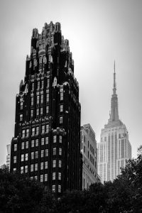 American_Standard_Radiator_ Building_Empire_State_Building_Manhattan_New_York_USA_Black_and_White