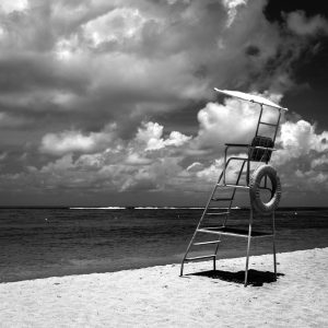 At_Lunch_Nusa_Dua_Bali_Indonesia_Black_and_White