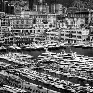 Billionaires_Row_Monte_Carlo_Monaco_French_Riviera_Europe_Black_and_White