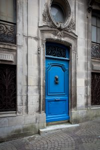 Blue_Door_Bayonne_Basque_Country_Aquitaine_SW_France_Colour