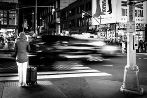 Checking_Out_Times_Square_Manhattan_New_York_USA_Black_And_White
