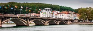 Flying_Flags_Adour_River_Bayonne_Basque_Country_Aquitaine_SW_France_Colour