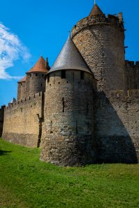 Fortified_Corner_Carcassonne_Languedoc_Occitanie_South_France_Colour