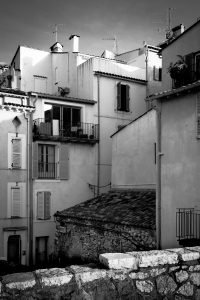 High_Density_Antibes_French_Riviera_Provence_Alpes_Côte-dAzur_South_France_Black_and_White