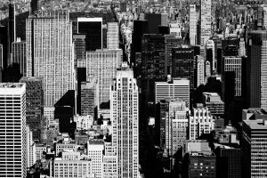 High_Density_Empire_State_Building_Manhattan_New_York_USA_Black_and_White
