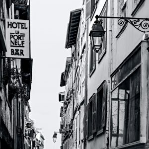 Le_Port_Neuf_Bayonne_Basque_Country_Aquitaine_SW_France_Black_and_White