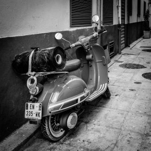 Local_Transport_Antibes_French_Riviera_Provence_Alpes_Côte-dAzur_South_France_Black_and_White