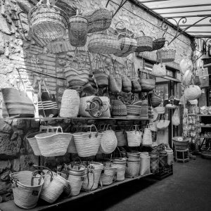 Markets_Old_City_Antibes_French_Riviera_Provence_Alpes_Côte-dAzur_South_France_Black_and_White