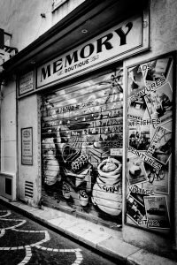 Memory_Boutique_Antibes_French_Riviera_Provence_Alpes_Côte-dAzur_South_France_Black_and_White