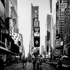 Morning_Times_Square_Manhattan_New_York_USA_Black_and_White