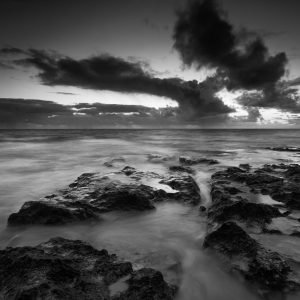 Negative_Sunset_Jindalee_Beach_Jindalee_Perth_Western_Australia_Black_and_White