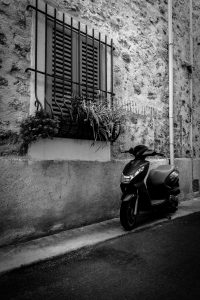 Parked_Antibes_French_Riviera_Provence_Alpes_Côte-dAzur_South_France_Black_and_White