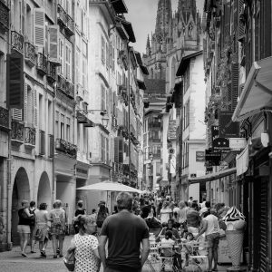 Polkadots_Bayonne_Basque_Country_Aquitaine_SW_France_Black_and_White