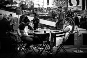 Quality_Time_Times_Square_Manhattan_New_York_USA_Black_and_White