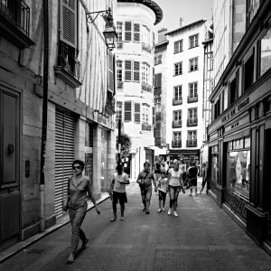 Short_Cut_Bayonne_Basque_Country_Aquitaine_SW_France_Black_and_White
