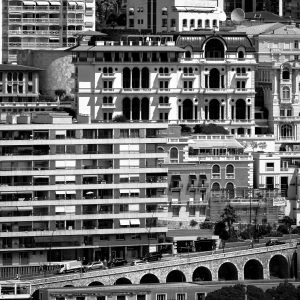 Stacked_Monaco_French_Riviera_Europe_Black_and_White