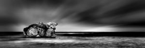 Stormy_Sunrise_Two_Rocks_Perth_Western_Australia_Black_and_White