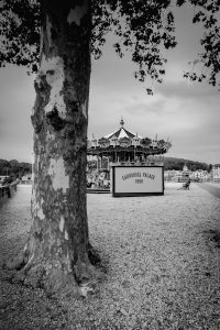 The_Carrousel_Bayonne_Basque_Country_Aquitaine_SW_France_Black_and_White