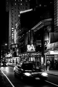 Theatre_District_Manhattan_New_York_USA_Black_and_White