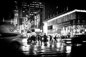 Theatre_Night_Manhattan_New_York_USA_Black_and_White