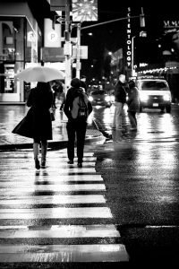 Wet_Crossing_Manhattan_New_York_USA_Black_and_White