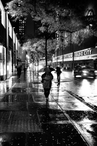 Wet_Night_Manhattan_New_York_USA_Black_and_White